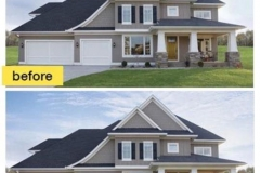 Before and After Photo of Garage Door