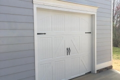 White Single Door Garage