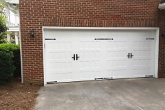 White Double Door Garage