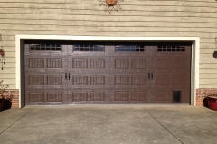 Brown Double Door Garage with Windows