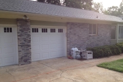 White Double Door Garage with Windows